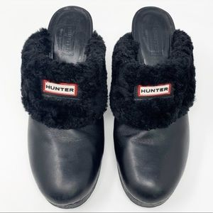💥 Hunter Fur Lined Mules / Clogs